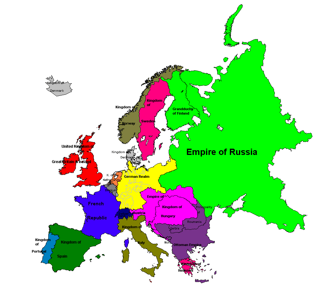 Map Of Europe In 1871.The Concert Of Europe An Introduction